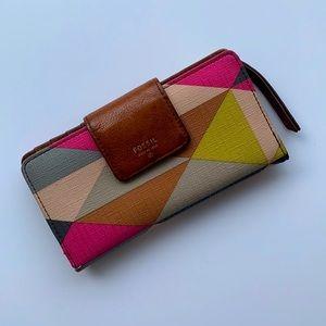 FOSSIL | Geometric patterned purse